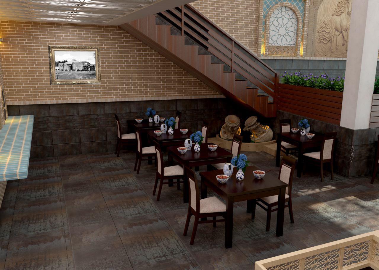 طراحی و اجرای نما و دکوراسیون رستوران سنتی