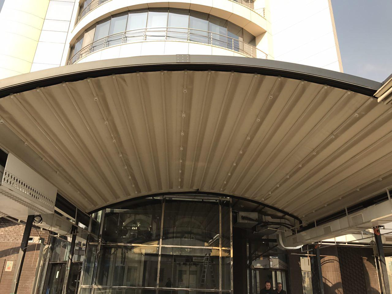 سقف متحرک ساختمان بام برند سنتر