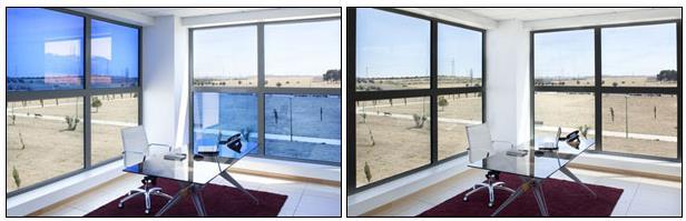 شیشه های تشکیل شده از پلی کریستال که با لایه ضدانعکاس پوشیده شده اند