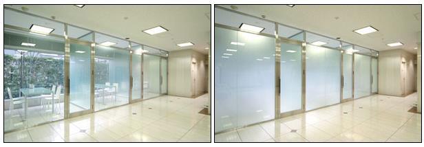 از شیشه های الکتروکرومیک می توان برای داشتن محیط های مجزا استفاده کرد