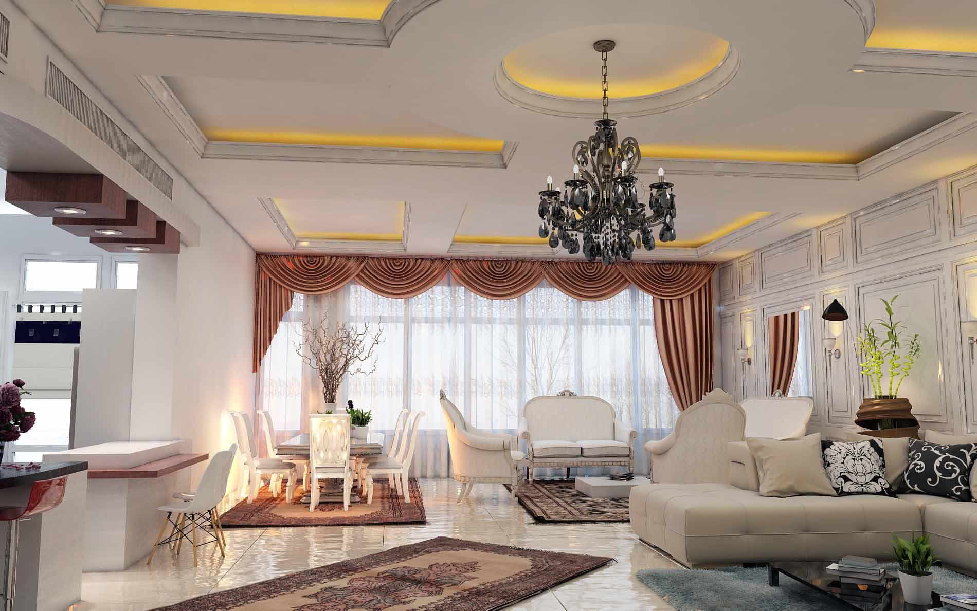 طراحی داخلی کلاسیک تهرانپارس