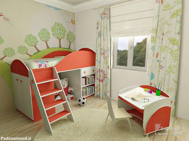دکوراسیون اتاق کودک با طرح رنگارنگ